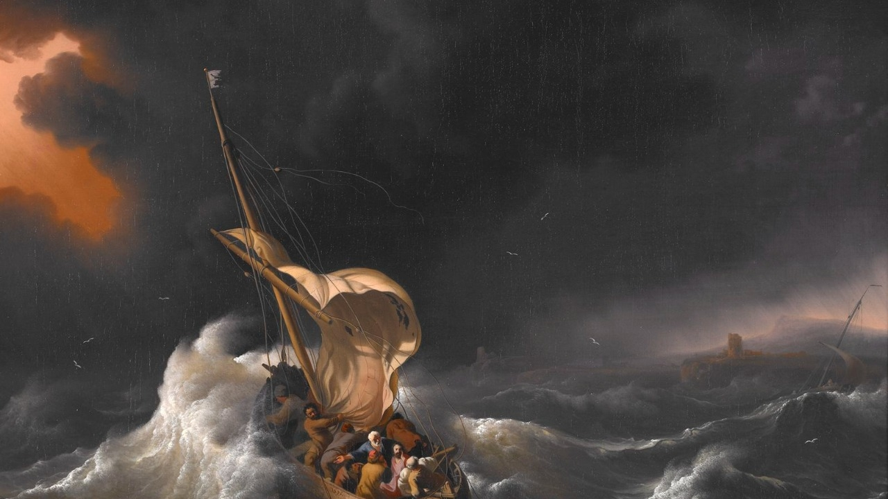 Backhuysen, Ludolf - Christ in the Storm on the Sea of Galilee